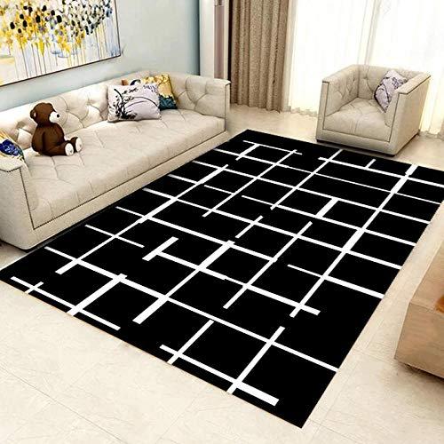 HXJHWB Alfombra habitación Lavables - Mesa Moderna Minimalista geométrica geométrica Sala de Estar sofá Mesa de té con Antideslizante severo-40cmx60cm