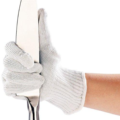 AGT Schnittfester Handschuh: 1 Paar Nylon-Stahl-Handschuhe mit Schnittschutz (Stahlhandschuh)