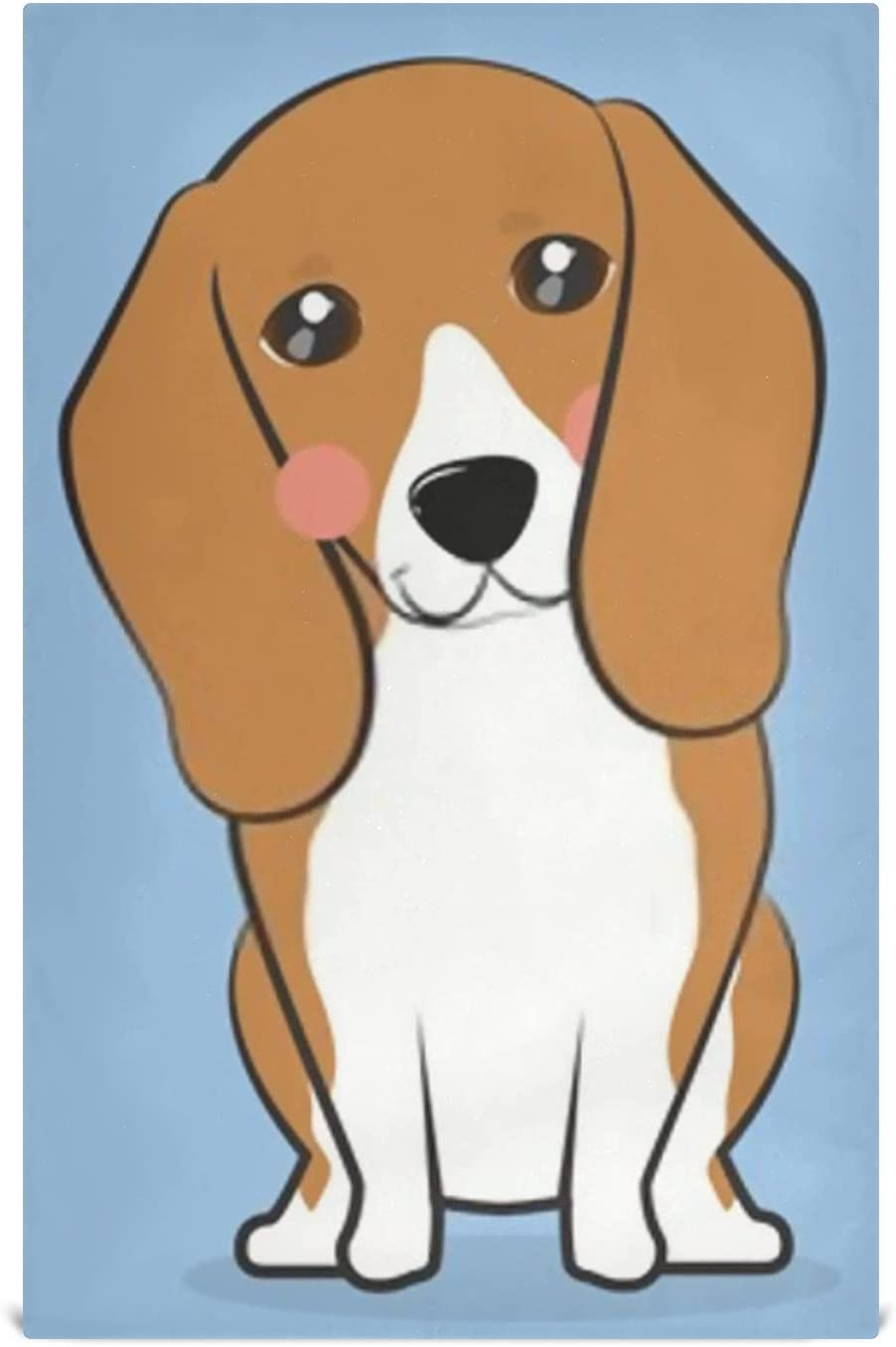 JIUCHUAN Kitchen Dish Towel Set 1 year warranty 6 Oakland Mall Dogs Cute Beagle Cartoon Style