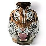 Sudadera para Hombre Funny 3D Tiger Lion Fashion Plus Animal Printed Unisex Jerseys-3XL