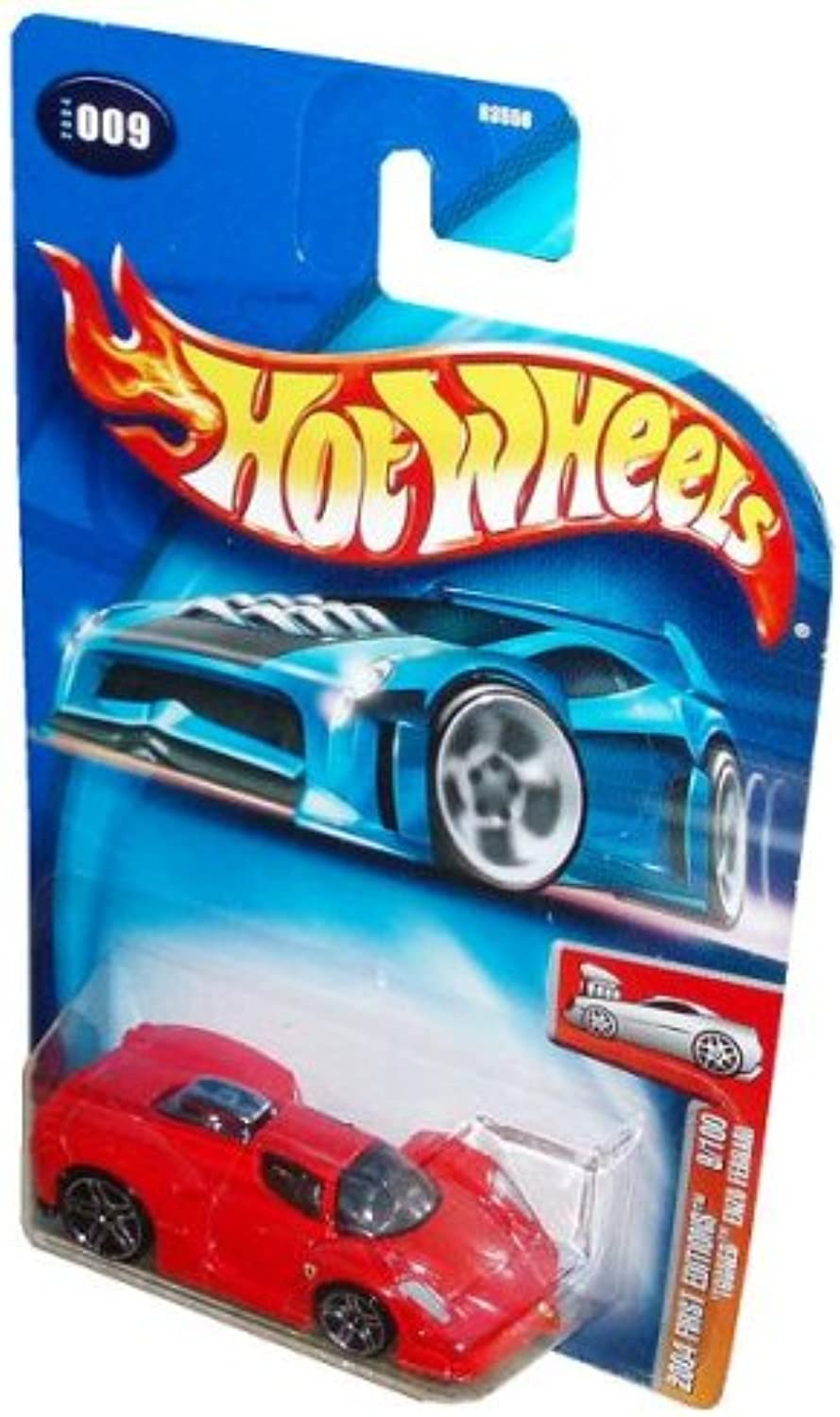 Mattel Hot Wheels 2004 First Editions Series 1 64 Scale Die Cast Metal Car   9 of 100 - Red Luxury Sport Coupe Tooned Enzo Ferrari