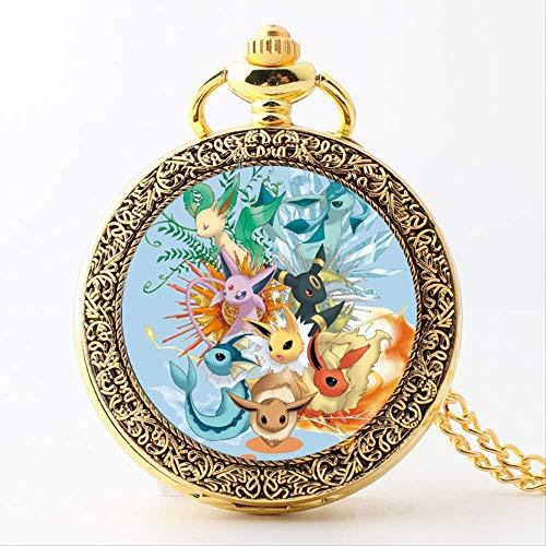 YUNXING Pokemon clock Exclusive Pokemon Quartz Pocket Watch in Europe and America, Ibrahimovic Family Animation Peripheral Glass Bracelet