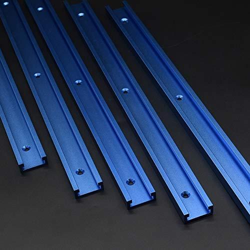 600 mm 30 Tipo T-Slot Track Carril en T Aleación de aluminio Carril en T Carpintería para sierra de mesa Carril guía para carpintería para fijación en tallado para el uso de fresadora vertical