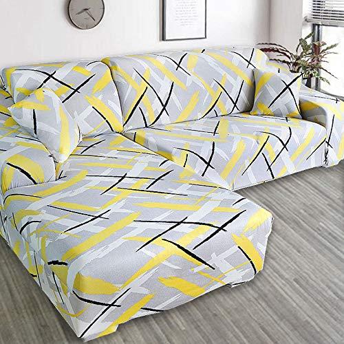 YANJHJY L Form ecksofa Abdeckung elastisch , für Wohnzimmer gedruckt Abdeckung für Sofa schonbezüge Stretch 1/2/3/4 Sitz, doppel, sitz145,185 cm