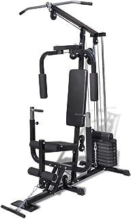 vidaXL Multi Gym Utility Fitness Machine Bench Press Workout Equipment Weight