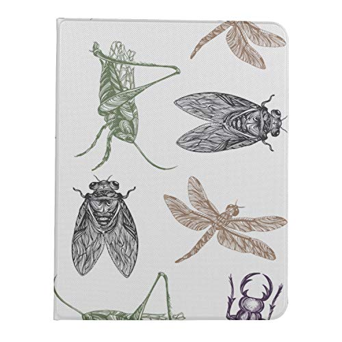 AQQA Case For Ipad Pro 11 Inch 2nd & 1st Generation 2020/2018 IpadProCaseForWomen Summer Cicada With Thin Wing TabletCaseForAdults Support Ipad 2nd Gen Pencil Charging