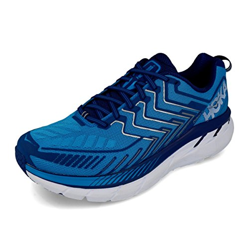 HOKA ONE ONE Men's Clifton 4 Wide Running Shoe Diva Blue/True Blue Size 12.5 Wide 2E…