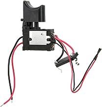 Interruptor de taladro atornillador a batería, interruptor de encendido del control de velocidad del taladro sin cable de la batería de litio 12 V con luz pequeña