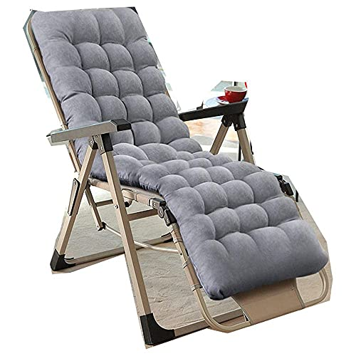 WGFGXQ Zero Gravity Sun Loungers,Striped Garden Zero Gravity Lounge Chair, Terrace Leisure Chair with Cup Holder And Pillow, Outdoor Lounge Chair-Khaki + Pearl Cotton Pad