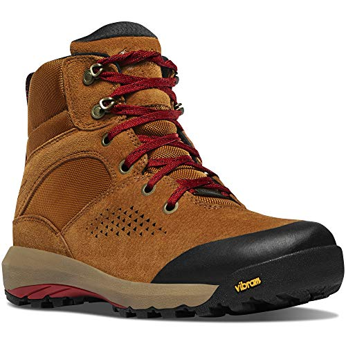 "Danner Women's 64530 Inquire Mid 5"" Waterproof Lifestyle Boot, Brown/Red - 8.5"