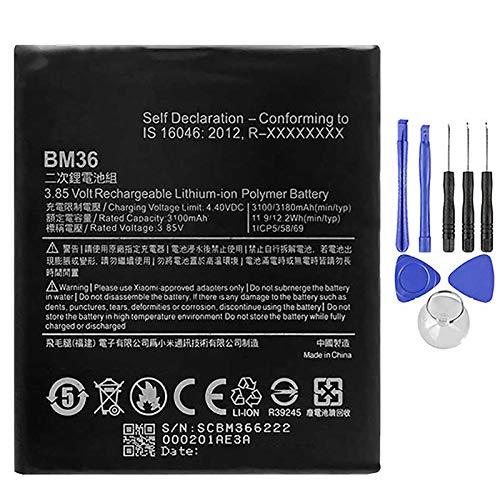 Ellenne Batería compatible con Xiaomi Mi 5S BM36 de alta capacidad 3200 mAh con kit de desmontaje incluido