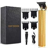 Cortadoras de pelo para hombres, cortadora de pelo eléctrico inalámbrico recargable Kit de corte de pelo, máquina de corte de pelo con pantalla LED, cuchilla de afeitar de pelo barba
