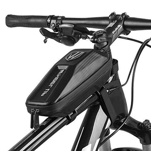 RIOGOO Bicycle Frame Bag Water Resistant Top Tube Bag Bicycle phone Bag Front EVA Handlebar Bag 3D Shell Cycling Accessories Bag