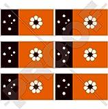Mini-Aufkleber, Motiv: Nordterritorien-Flagge, Darwin Nt, Australien, 40 mm, Vinyl, 6 Stück