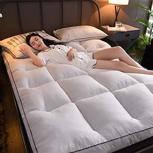 LYBFNN Tatami Ground Mat Futon Colchón Antideslizante Plegable Transpirable Soft Mat Colchón Almohadillas de Cojín Portátil Guest Bed Room Decor Viajes Camping,B:White,90 * 200cm