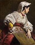 Kit de pintura al óleo de bricolaje por número Leon Wyczółkowski Famoso estudio de pintura de una mujer italiana Kit de pintura acrílica para adultos principiantes