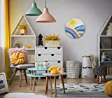 "Wandbild, Acrylbild""Sunny fields"", Acryl auf Leinwand, Kunst für Kinder, Kinderzimmerausstattung, Wanddeko Kinderzimmer"