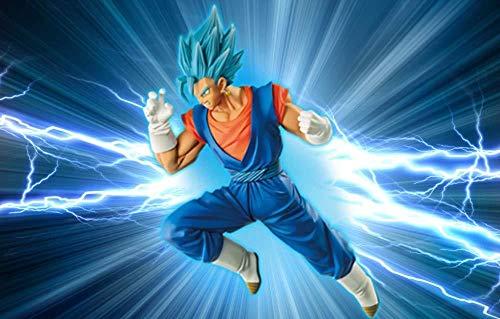 Modell Anime Dragon Ball Z Vegeta Sohn Goku Fusion Gogeta Blau Haar Action-figur Erwachen Super Saiyan Schokolade Figuration Modell Modell- Handgemacht Gute Qualität Kreatives Design