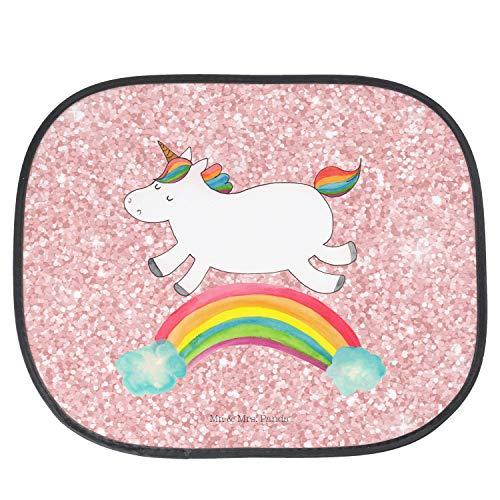Mr. & Mrs. Panda Kinder, Sonnenblende, Auto Sonnenschutz Einhorn Regenbogen - Farbe Glitzer Rosa