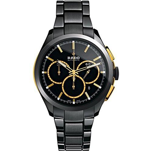 Rado Hyperchrome Chronograph Black Dial Black Ceramic Mens Watch R32277152