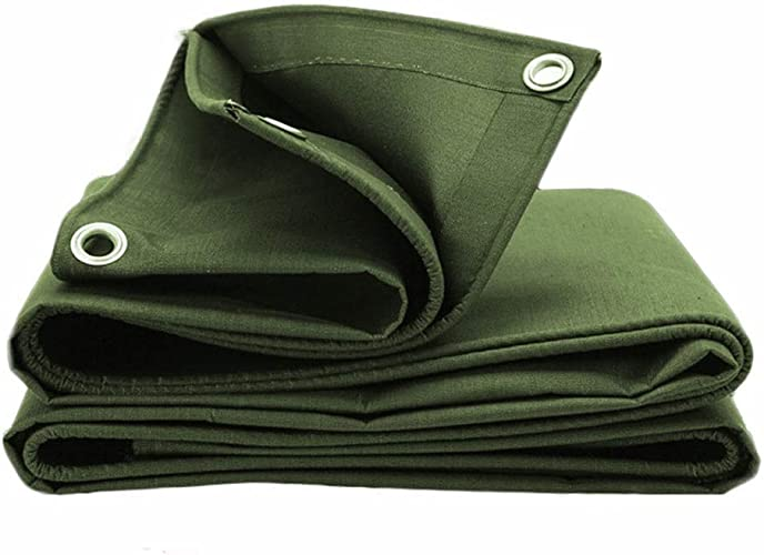 QXX Bache épaisse de 0.8mm avec des Oeillets imperméable résistant pour la Feuille en Bois campant énumérant la Taille Multi (Taille   2x2m)