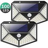 Lampe Solaire Extérieur 100 led, Kilponen 2 Pack éclairage Solaire Extérieur Détecteur de Mouvement éclairage 270°...