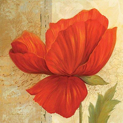Feeling at home Gespannte Leinwand, Papier, I-Gladding, Floral, Kunstdruck, gerahmt auf Holzbalken, cm_20 x 50 cm