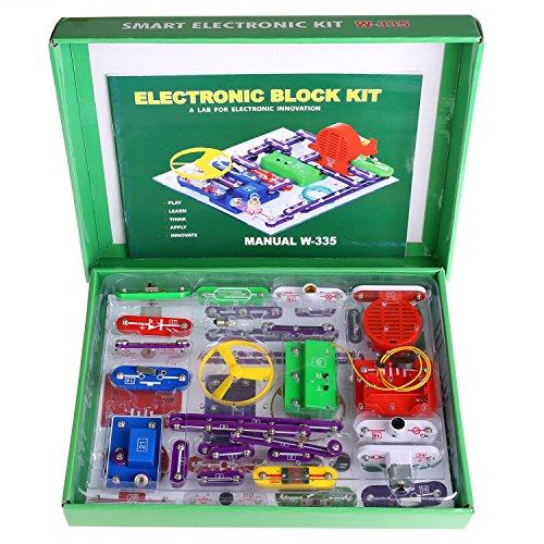 Cooshional Bambini W-335 Intelligente Elettronica Discovery Kit Precoce Infanzia Giocattolo Educativo per I Bambini per Imparare Scienza Fisica Eelectricity