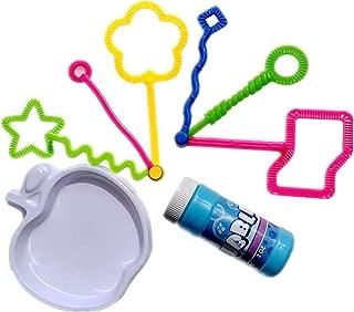 Toyvian 8pcs Bubble Wands Mini Bubble Blower Toys Bubble Maker Toys for Children Kids (No Bubble Water in Bubble Bottle)
