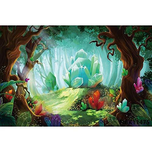 Cuento de Hadas País de Las Maravillas Bosque de ensueño Selva Naturaleza Paisaje Primavera Telón de Fondo Fotografía Fondo para Estudio fotográfico A5 10x10ft / 3x3m