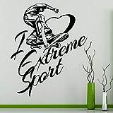 Patines de ruedas Skate Skateboard I Love Extreme Sports Etiqueta de la pared Vinilo Arte Calcomanía Adolescente Niño Fans Dormitorio Sala de estar Club Studio Decoración para el hogar Mural