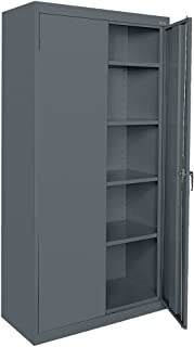 Sandusky Lee CA41361872-02 Welded Steel Classic Storage Cabinet with Adjustable Shelves, 36