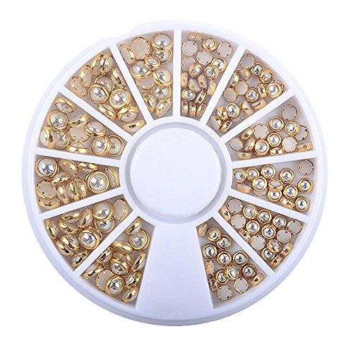 KEERADS 3D Strass à Ongles Art Décorations Acrylique Diamant Bijoux Accessoire Gemme Nail Glitter Carrousel Argente Strass boites Cristal Ongle Manucure (C)