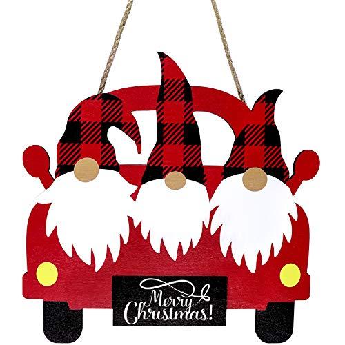 Letrero Colgante de Madera de Camión de Navidad Cartel Hogar Camión Rojo...
