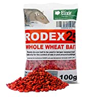 Elixir Gardens® Rodex25 Whole Wheat Bait   Rat Poison   Strongest Available Online   Ready to Use   1 x 100g