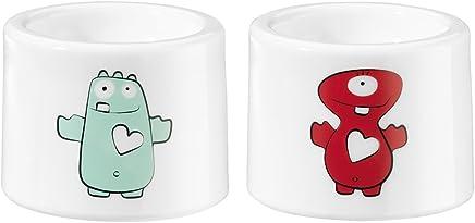 Preisvergleich für Koziol Eierbecher I-Cup Paula & Herzbert in weiß, Kunststoff, 3.4x3.4x2.2 cm