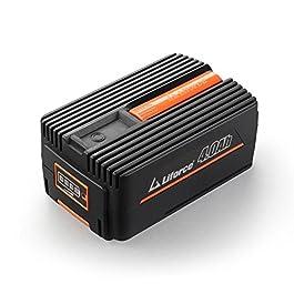 Fuxtec Tondeuse à Batterie 40 V E137C Lithium-ION – Set avec Batterie EP40 4Ah et Chargeur EC20