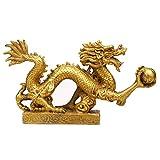 OMING Statuen Feng Shui Drache-Glück & Erfolg Feng Shui Waren Messing Drachen Statue Drache-Verzierung Fertigkeit-Geschenk Wohnaccessoires Dekoratives Wohnaccessoire