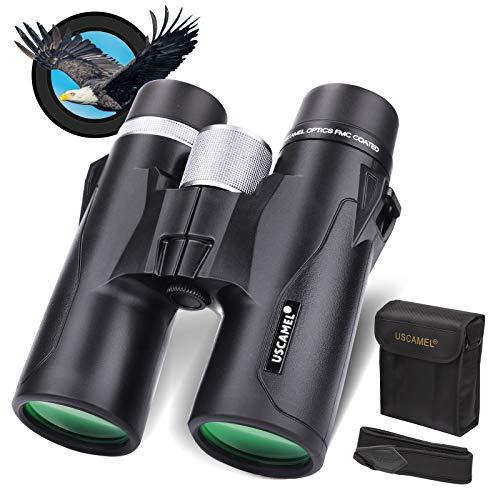 Prismáticos compactos para Adultos, 10x42 Prismáticos Profesionales con Techo HD Prism - Lo Mejor para observación de Aves, Safari Sightseeing, Viajes, Camping, Concierto