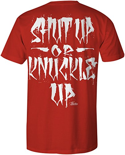 Heathen Knuckle Up T-Shirt (Red, 3X-Large)