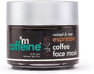 mCaffeine Espresso Coffee Face Pack Mask | Exfoliation, Pore Tightening | Natural AHA, BHA | All Skin Types | Paraben & Cr...