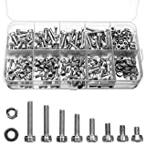 <span class='highlight'><span class='highlight'>Tocawe</span></span> M3 304 Stainless Steel Hex Head Screws Set, 320 Pieces Mechanical Hex Socket Screw and Nut Set for Replacement of Various Parts