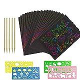 50 pezzi Scratch Art Paper Disegni Scratch Art di carta adatti ai bambini con un'educazione della prima infanzia per sviluppare il loro cervello