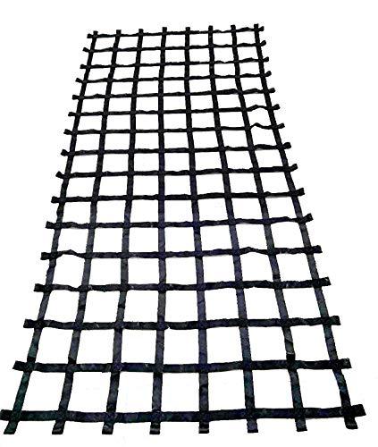 FONG Climbing Cargo Net Black 14 ft X 6 ft - Indoor Climbing net - Outdoor Cargo Webbing Net - Military Climbing Cargo Net (14ft)
