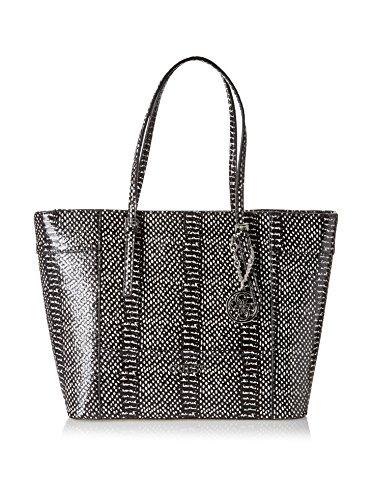 GUESS Women's Delaney Medium Classic Tote Black Multi Handbag
