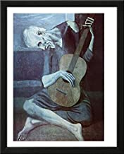 Buyartforless Framed The Old Guitarist by Pablo Picasso 20x16 Art Print Poster Museum Masterpiece