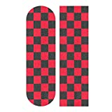 YYZZH Red Checkered Gingham Plaid Pattern Square Design Skateboard Grip Tape 9'x33' Anti Slip Sandpaper Longboard Scooter Griptape Sheet Sticker