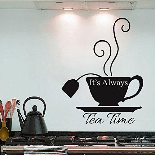 sanzangtang altijd thee tijd zingen Dreamland Wonderland muur Decal Cafe Home Decor Keuken Theehuis Sticker verplaatsbaar