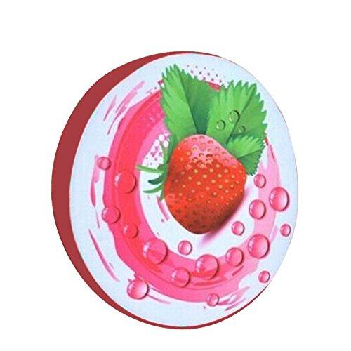 Dosige Oreiller Coussin de Fruits en Tranche Motif Multi-Usage Oreiller Coussins de Voiture Canapé Chaise Pet Lit Sleeping Tapis - Fraise