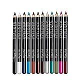 Eye Liner Pencil Set - 12 Assorted Colors Natural Matte...